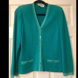 St John teal jacket size 4